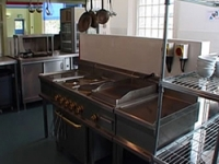 The kitchen is used for training courses