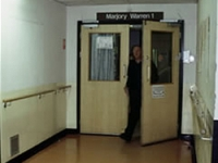 An entrance to the ward prior to the project