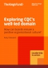 Exploring CQC's well-led domain front cover