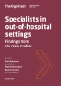 Specialists in out-of-hospital settings front cover